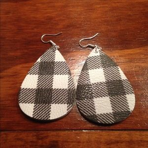 Faux Leather Earrings
